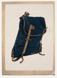 Bleu de Chauffe   Men   Canvas   leather Rucksack I Sac à dos coursier I 39f69cf451a