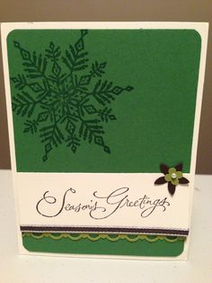 Stampin' Up! Christmas card idea. Stamp a stack.