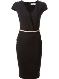 b484e4f5851a Shop Victoria Beckham fitted belt dress in Marion Heinrich from the world s  best independent boutiques at