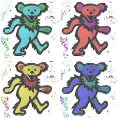 4 Grateful Dead Bears by CodyGat on DeviantArt