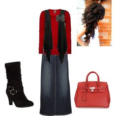 No to the boots, and bow but other wise I think I like this. So picky tho. I would have to try it on to know...