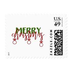 Merry Christmas postage stamp #christmas #postage #stamps