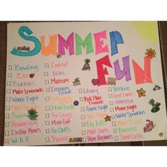 Summer fun for kids. This is such a good idea. I have to do this with the kids.