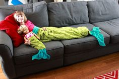 Mermaid Tail Blanket - Made By Marzipan with Video Tutorial and free pattern