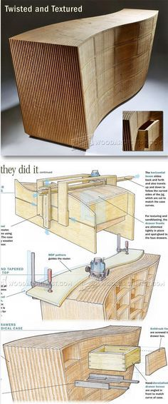 Twisted Chest of Drawers - Furniture Plans and Projects   WoodArchivist.com