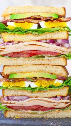 Healthy Sandwiches, Sandwiches For Lunch, Delicious Sandwiches, Soup And Sandwich, Wrap Sandwiches, American Sandwich Recipes, Club Sandwich Recipes, Sandwich Ideas, Grilling Recipes