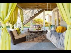 Looking for Outdoor Space and Backyard ideas? Browse Outdoor Space and Backyard images for decor, layout, furniture, and storage inspiration from HGTV. Outdoor Lounge, Outdoor Spaces, Outdoor Living, Outdoor Decor, Outdoor Ideas, Outdoor Pergola, Indoor Outdoor, Rustic Pergola, Outdoor Furniture