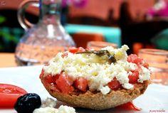 Cretan Dakos! #Crete #CretanDiet Provided to you by Sublime Repair Forté ™   more about us: http://www.sublimerepair.com
