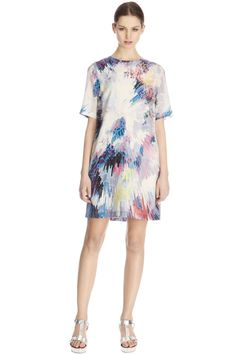 4785fc21f41dc4 Silk Explosion Print Dress Warehouse
