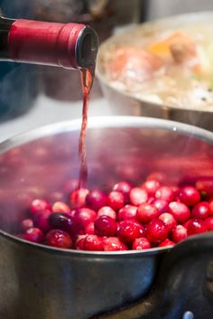 NYT Cooking: What does a chef in Napa Valley do to jazz up her cranberry sauce? Add wine, of course. This recipe was inspired by Cindy Pawlcyn, the Napa Valley chef and cookbook author, and includes smashed fresh ginger for extra verve. It's more tart than most cranberry sauce recipes, so if you like yours sweeter, feel free to add more sugar or a little more honey.