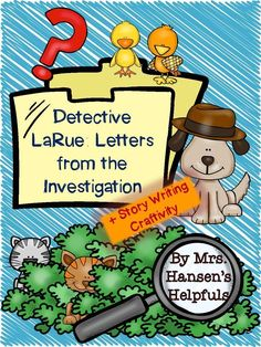 Detective LaRue by Mark Teague is a cute crime/mystery story.  A great new writing craftivity is included with this unit.  https://www.teacherspayteachers.com/Product/Detective-LaRue-by-Mark-Teague-Mini-Book-Study-and-Activities-1470474