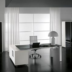 Έπιπλα γραφείου www.idhome.gr Office Fit Out, Home Office, Office Desk, Corner Desk, Furniture, Home Decor, Offices, Ph, Minimalist