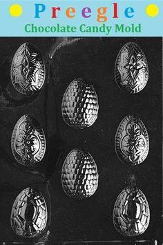 Fancy Easter Eggs Chocolate Candy Mold – Preegle.com - E095