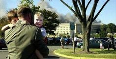 """When I first saw this picture, I thought that the man carrying the children was their father. Now I realize that he was not related to them by blood, but by nationality. He is an American. They are American children. He is not their father, he is their protector. He's a United States Marine."""""""
