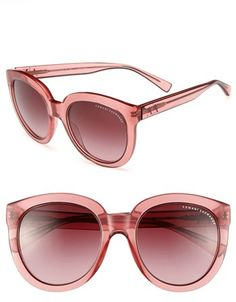 fdb9db74fb87 AX Armani Exchange  Transparent Glam  53mm Sunglasses available at   Nordstrom Round Lens Sunglasses