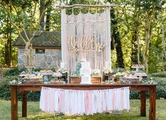 This Dreamy Boho Birthday Party is everything with sweet vintage decorations, a baby time capsule, dreamcatcher decorations, amazing cake and desserts. Bohemian Birthday Party, 1 Year Old Birthday Party, Birthday Party Desserts, Girl Birthday Themes, Garden Birthday, Baby Girl Birthday, First Birthday Parties, First Birthdays, 15th Birthday