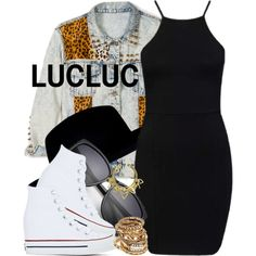 3|7|15 LUCLUC by miizz-starburst on Polyvore featuring polyvore, fashion, style, Forever 21, Converse, River Island and VidaKush