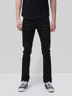 The Tight Terry is an extra slim, slightly stretchy model, hence its so-called tight fit. Basic black jeans, it will go with everything, and for a Nudie Jeans, Patches, Black Thread, Deep, Jeans Skinny, Slim Legs, Stretch Denim, Black Denim, Organic Cotton
