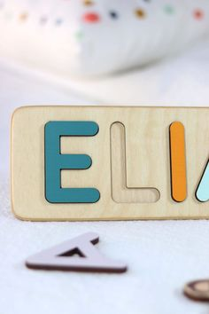 Wooden Name Puzzle with animals for Baby Boy Birthday by WoodilyToys. My First Thanksgiving Day- Baby Boy Gift - Personalized Name Puzzle - Halloween Kids Present - Montessori toys- 1 Year Old Toy. Christmas present for toddlers. Custom name puzzle is the best wooden toy for a baby. Eco-friendly Montessori toys. Our Personalized custom name puzzles are designed to fuel imagination, inspire exploration and encourage natural curiosity. #babyroom #babytoy