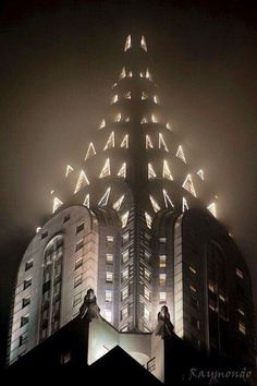 The fantastic Chrysler Building, NYC. (looking like a Christmas Tree).  ;0)