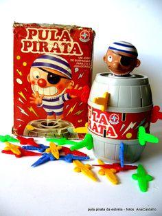 Antigo Brinquedo Pula Pirata da Estrela