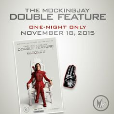 Regal's #Mockingjay Double Feature is tonight! Receive this collectible ticket & pin with your admission! Get tickets and showtimes: regmovi.es/1kyxiEQ