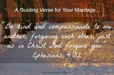 A Guiding Verse for Your Marriage - Ephesians 4:32