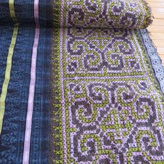 Handwoven Hmong Vintage fabric Cross stitch by tribalcollection