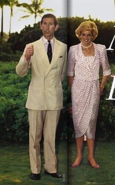 November 8, 1985: Prince Charles & Princess Diana on the grounds of the Kahala Hilton Hotel, Hawaii for an 18-hour stay before beginning their trip to the United States mainland.