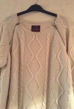 Vintage off white warm jumper/ wonderfully by MerryLegsandTiptoes