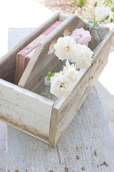 Shabby Chic Wooden Caddy. $24.99. All proceeds support their adoption.