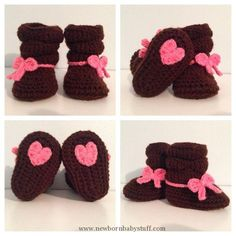 Crochet Baby Booties Baby Girl Crochet Slouch Boots custom made to by WithLoveByC...