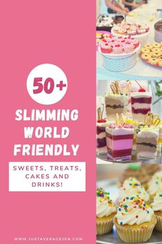 50 Slimming World Friendly Low Syn Treats! Slimming World Cake, Slimming World Treats, Slimming World Recipes, Slimming World Biscuits, Slimming Eats, Sugar Free Biscuits, Low Syn Treats, Healthy Extra A, Jam Donut