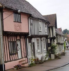 Ancient houses in Lavenham, Suffolk, UK