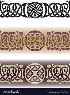 Tattoo pattern made in the traditional Celtic style with knots and. Maori Tattoo Patterns, Maori Tattoo Designs, Celtic Patterns, Celtic Designs, Celtic Braid, Celtic Knots, Steampunk Patterns, Medieval Pattern, Tiki Tattoo