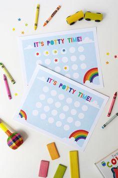 Free Printable Potty Training Chart | via Alice & Lois