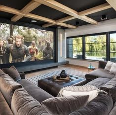If you are looking for home theater living room ideas you've come to the right place. We have 31 images about home theater living room ide. Home Theater Room Design, Home Cinema Room, Home Theater Rooms, Home Interior Design, Home Theatre Lounge, Cinema Room Small, Small Movie Room, Home Theater Basement, Home Theater Furniture