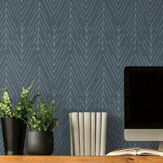 Twig Hygge Herringbone Peel and Stick Wallpaper - Small Sample / Grey