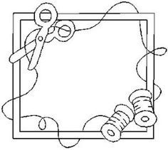 sewing frame; embroidery. Perfect for a quilt label.