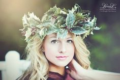 #Woman's Modern #Portraiture #Floral #Crown Woodland Nymph Muse Fairy Faery #Headpiece #Wedding Whimsical #LaurieL #Photography