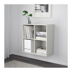 EKET Skab med 4 rum - lysegrå - IKEA