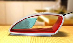 Concept Steam Iron I want one! Steam Iron Reviews, Steam Generator, Misfit Toys, Television Set, How To Iron Clothes, Yanko Design, Gadgets And Gizmos, Flat Iron, Industrial Design