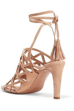 Chloé - Cutout Suede Sandals - SALE20 at Checkout for an extra 20% off
