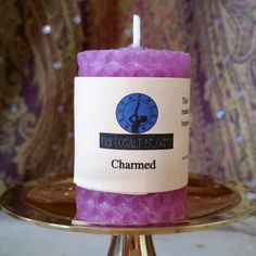 Two inch mini version. This alluring candle makes a memorable first impression. It highlights your natural grace, wit, humor, and eloquence to present you in your most flattering light. It assists in cultivating an effortless rapport with new friends, professional contacts, and even romantic interests.  More magic candles at our website, nuicobaltdesigns.com