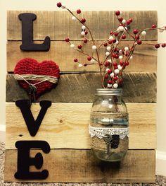 LOVE wall art by ShabbySuppliesDecor on Etsy