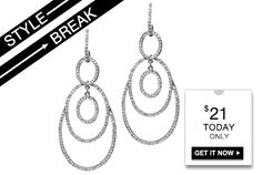 STYLE BREAK! Get the Olivia Earrings for $21.  Today Only! Olivia Earrings will go with any outfit!