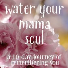 An invitation to reconnect with yourself. Water Your Mama Soul is a 10-day self-paced class for mamas. You can sign up at any time and give yourself the gift of self-care practices, photography prompts to help ground you in this moment, and stories from my own days in the mama trenches to remind you that you aren't alone.