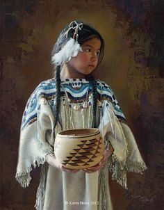 """native american children paintings 
