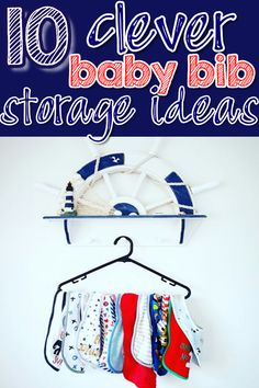10 Clever Ways To Organize Baby Bibs - Practical Storage and Organization Ideas for Bibs Baby Bottle Organization, Nursery Organization, Organization Ideas, Diy Baby Girl Bibs, Baby Bibs, Baby Storage, Nursery Storage, Baby Outfits, Toddler Bibs