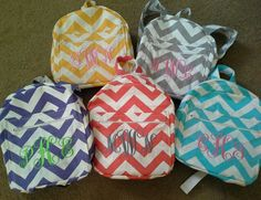 Canvas Chevron child or toddler backpack by VintageLayneBoutique, $30.00